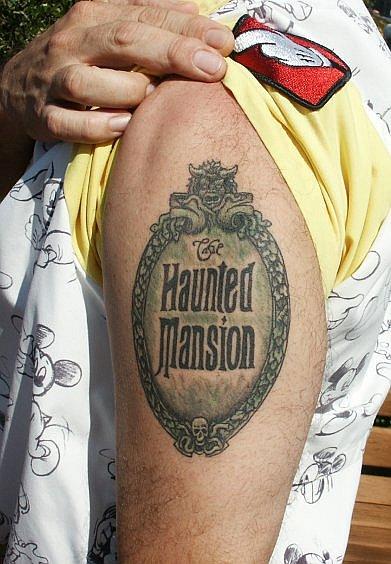 Haunted mansion logo tattoo disney ink disney dispatch for Disney world tattoos